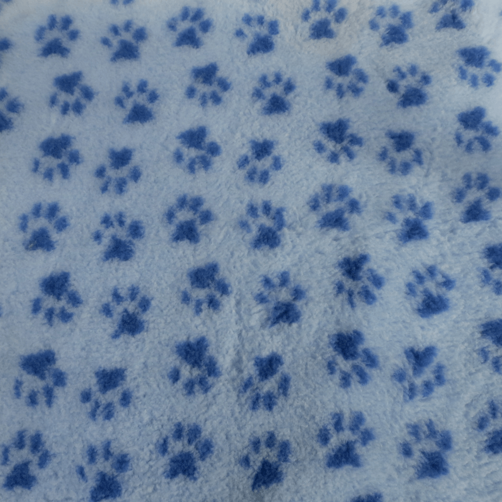 PetBed Non-slip Fleece - Blue Paw