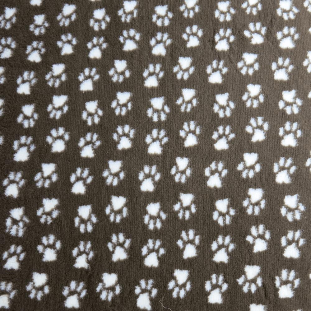 PetBed Non-slip Fleece - Brown Paw