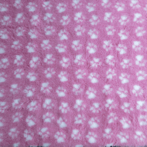 PetBed Non-slip Fleece - Pink Paw