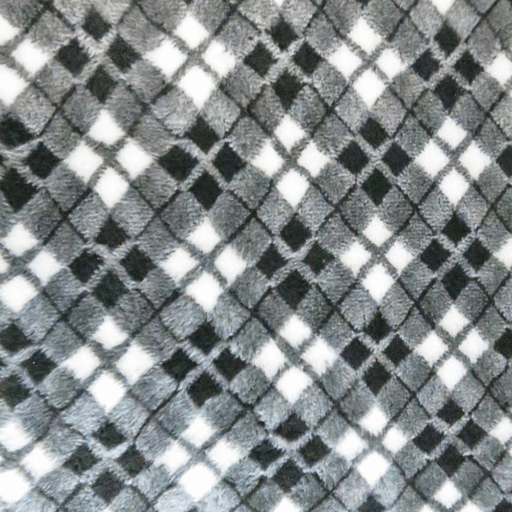 PetBed Non-slip Fleece - Grey Tartan