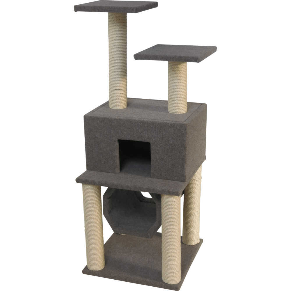 Cat house with barrel