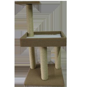 Pedestal cot with top platform