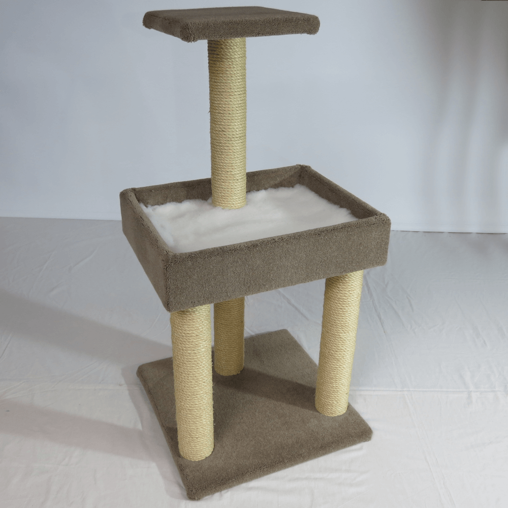 Pedestal cot with top platform